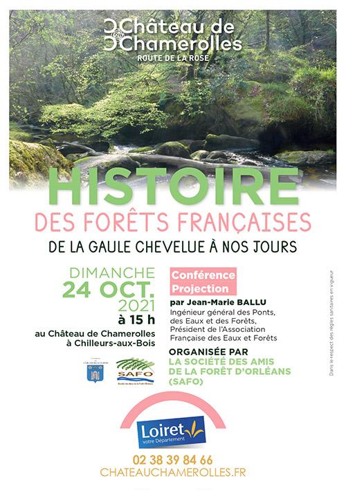 conference-projection-histoire-des-forets-francaises-safo-chateau-de-chamerolles-2021